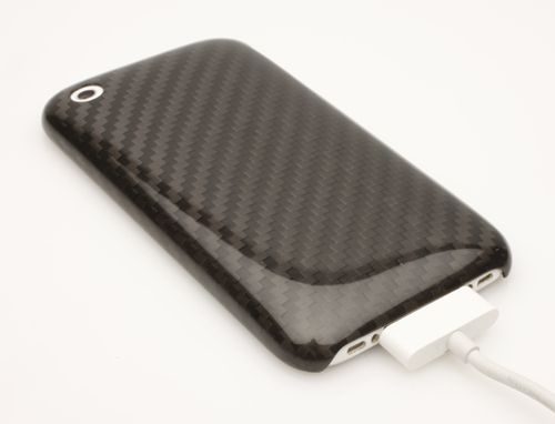 Carbon-fiber-iphone-shield-charge
